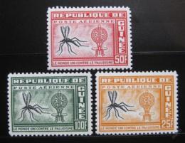 Poštovní známky Guinea 1962 Boj proti malárii Mi# 102-04