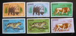 Poštovní známky Guinea 1962 Zvíøata Mi# 128-33