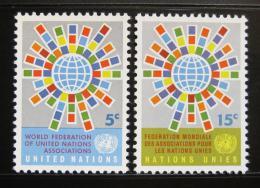 Poštovní známky OSN New York 1966 Vlajky èlenù Mi# 163-64