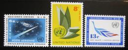 Poštovní známky OSN New York 1963 Letecké Mi# 128-30