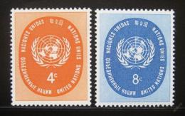 Poštovní známky OSN New York 1958 Znak OSN Mi# 70-71