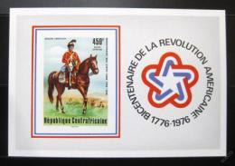 Poštovní známka SAR 1976 Americká revoluce neperf. Mi# Block 10 B