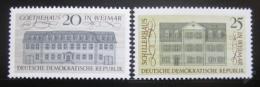 Poštovní známky DDR 1967 Nìmecký humanismus Mi# 1329-30