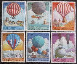 Poštovní známky Laos 1983 Létající balóny Mi# 647-53