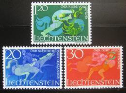 Poštovní známky Lichtenštejnsko 1967 Folklór Mi# 475-77