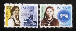 Poštovní známky Island 1996 Evropa CEPT, Slavné ženy Mi# 844-45