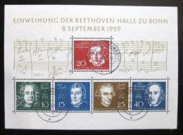 Poštovní známka Nìmecko 1959 Skladatelé Mi# Block 2