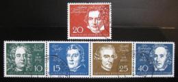 Poštovní známky Nìmecko 1959 Skladatelé Mi# 315-19