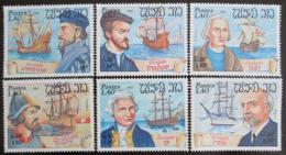 Poštovní známky Laos 1983 Námoøníci a jejich lodì Mi# 676-81