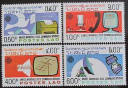Poštovní známky Laos 1983 Svìtový rok komunikace Mi# 694-97