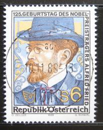 Poštovní známka Rakousko 1989 Alfred Hermann Fried, pacifista Mi# 1976
