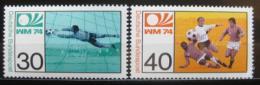 Poštovní známky Nìmecko 1974 MS ve fotbale Mi# 811-12