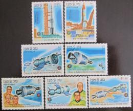 Poštovní známky Laos 1985 Prùzkum vesmíru Mi# 851-57