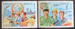 Poštovní známky Laos 1985 Vyroèí vzniku republiky Mi# 878-79