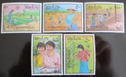 Poštovní známky Laos 1987 Svìtový den potravin Mi# 1045-49