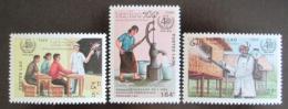 Poštovní známky Laos 1988 Výroèí WHO Mi# 1088-90