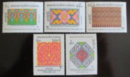 Poštovní známky Laos 1988 Dekorativní šablony Mi# 1105-09