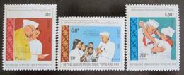 Poštovní známky Laos 1989 Džaváharlál Néhrú Mi# 1179-81