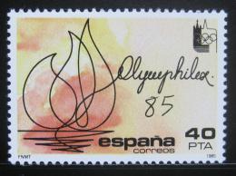Poštovní známka Španìlsko 1985 Výstava OLYMPHILEX Lausanne Mi# 2666