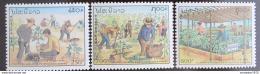 Poštovní známky Laos 1991 Výsadba stromù Mi# 1267-69
