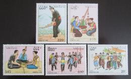 Poštovní známky Laos 1991 Hudební slavnosti Mi# 1276-80