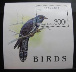 Poštovní známka Tanzánie 1992 Kukaèka Mi# Block 190