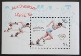 Poštovní známka Laos 1987 LOH Soul Mi# Block 115