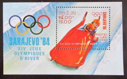 Poštovní známka Laos 1983 ZOH Sarajevo Mi# Block 96