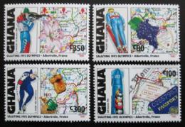 Poštovní známky Ghana 1992 ZOH Albertville Mi# 1864-65,67-68