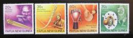 Poštovní známky Papua Nová Guinea 1990 Hudební nástroje Mi# 627-30