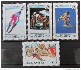 Poštovní známky Gambie 1992 ZOH Albertville Mi# 1393,96-98