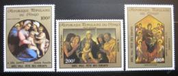 Poštovní známky Kongo 1985 Náboženské umìní Mi# 986-88