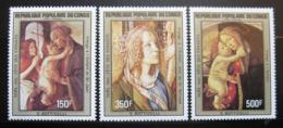 Poštovní známky Kongo 1984 Umìní, Botticelli Mi# 936-38
