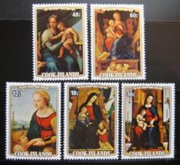 Poštovní známky Cookovy ostrovy 1983 Umìní, Raffael Mi# 932-36