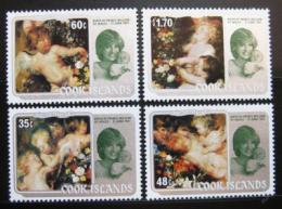Poštovní známky Cookovy ostrovy 1982 Umìní, Princezna Diana Mi# 840-43