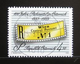 Poštovní známka Rakousko 1985 Registraèní nálepky Mi# 1806