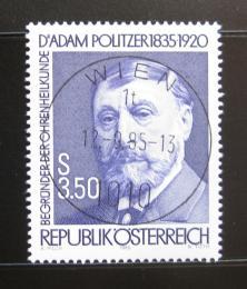 Poštovní známka Rakousko 1985 Dr. Adam Politzer, lékaø Mi# 1826
