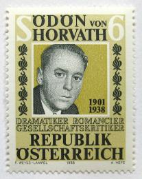 Poštovní známka Rakousko 1988 Odon von Horwath, dramatik Mi# 1926