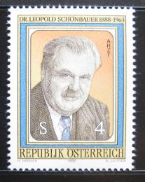 Poštovní známka Rakousko 1988 Leopold Schönbauer, lékaø Mi# 1941