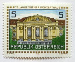 Poštovní známka Rakousko 1988 Koncertní hala, Vídeò Mi# 1937