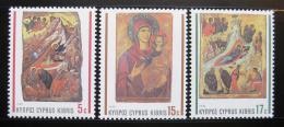 Poštovní známky Kypr 1990 Ikony, vánoce Mi# 764-66
