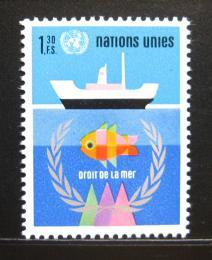 Poštovní známka OSN Ženeva 1974 Zákon moøe Mi# 45