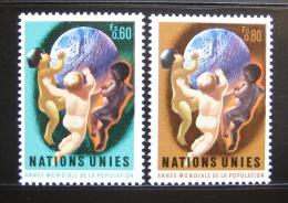 Poštovní známky OSN Ženeva 1974 Svìtová populace Mi# 43-44