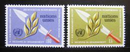 Poštovní známky OSN Ženeva 1973 Dekáda odzbrojování Mi# 30-31