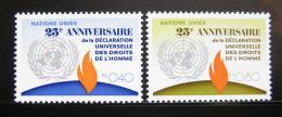 Poštovní známky OSN Ženeva 1973 Lidská práva Mi# 35-36