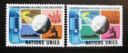 Poštovní známky OSN Ženeva 1975 Mírové využití vesmíru Mi# 46-47
