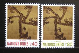 Poštovní známky OSN Ženeva 1972 Umìní Mi# 28-29