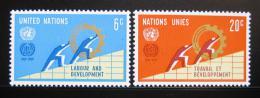 Poštovní známky OSN New York 1969 Výroèí ILO Mi# 216-17