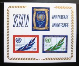 Poštovní známka OSN New York 1970 Výroèí OSN Mi# Block 5