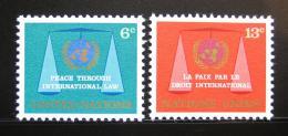 Poštovní známky OSN New York 1969 Právní komise Mi# 214-15